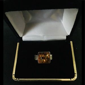 Amber Ring 925 Silver
